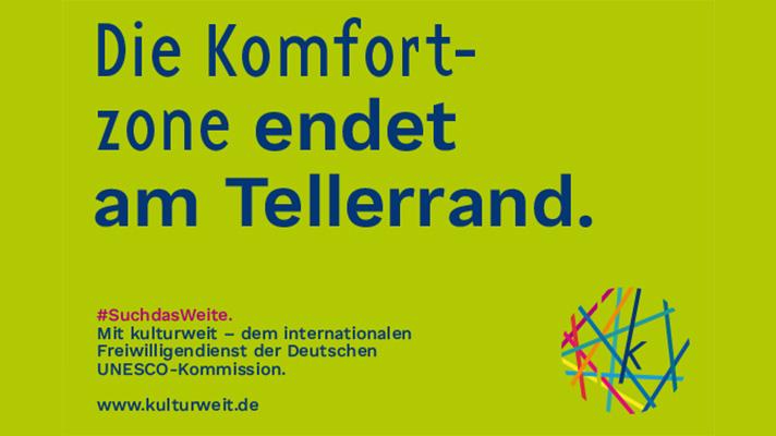 kulturweit Poster Tellerrand