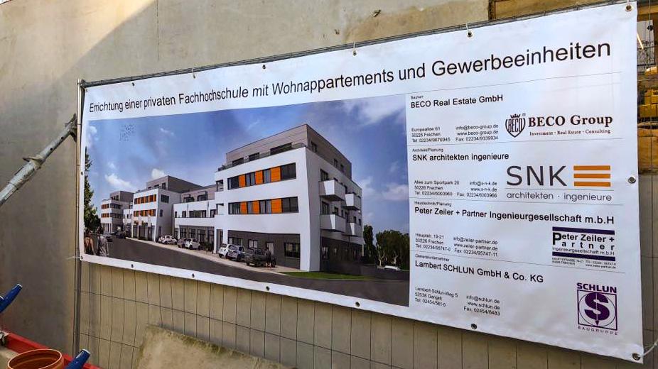 Grundsteinlegung der privaten Hochschule in Frechen