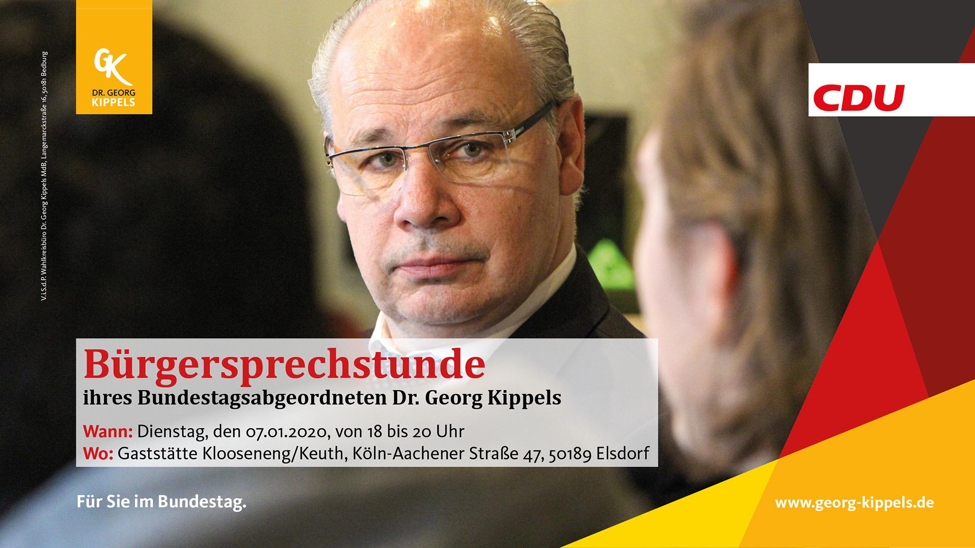 Bürgersprechstunde in Elsdorf am 07.01.2020