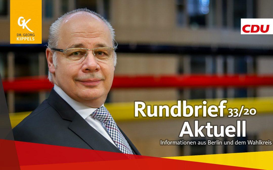 Rundbrief Aktuell 33/2020