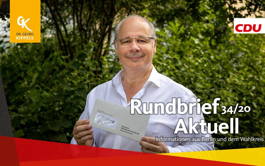 Rundbrief Aktuell 34/2020