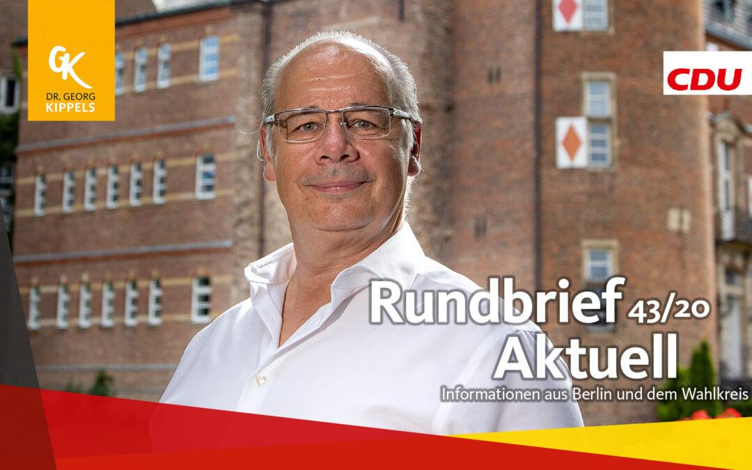 Rundbrief Aktuell 43/2020