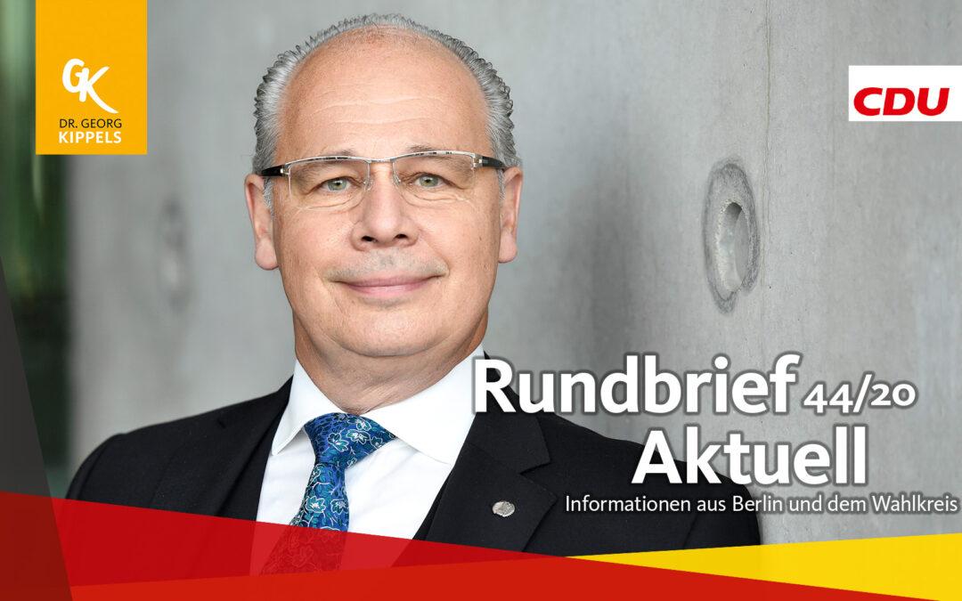 Rundbrief Aktuell 44/2020