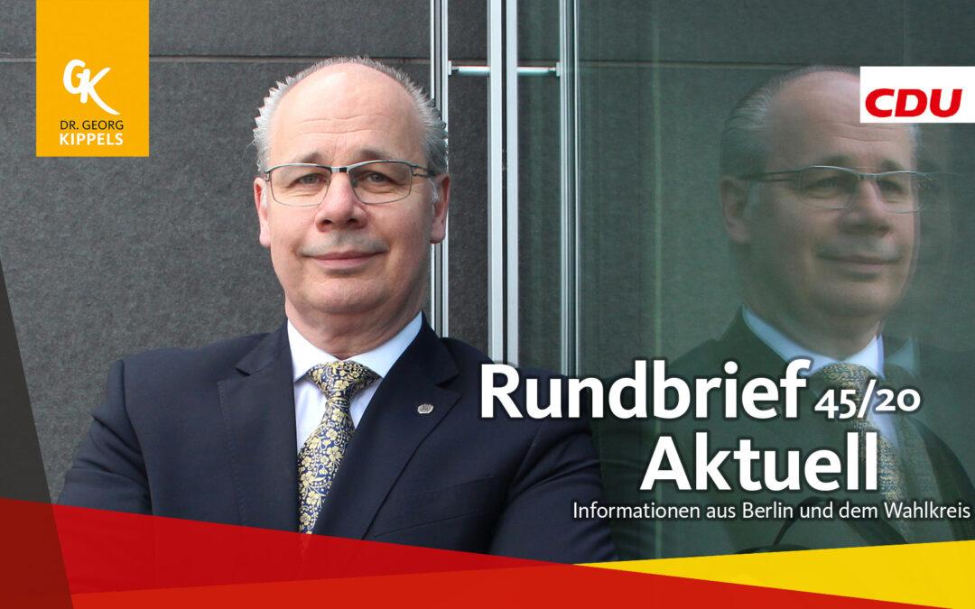 Rundbrief Aktuell 45/2020