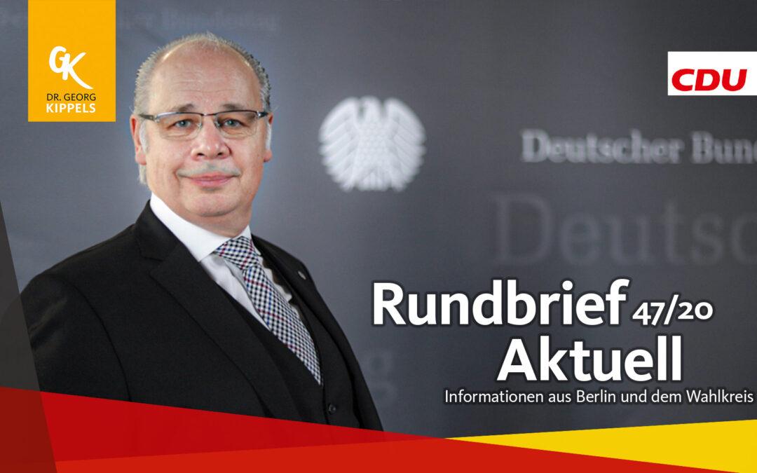 Rundbrief Aktuell 47/2020
