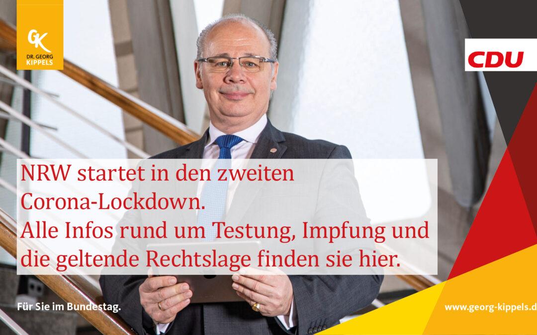 NRW startet in den zweiten Corona-Lockdown.