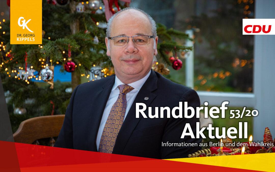 Rundbrief Aktuell 53/2020