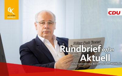 Rundbrief Aktuell 07/2021