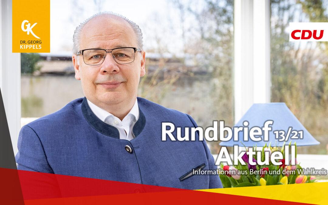 Rundbrief Aktuell 13/2021